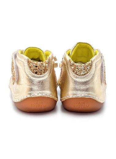 First Step Pullu Hakiki Deri Ortopedik İlk Adım Ayakkabısı  D-458 Altın